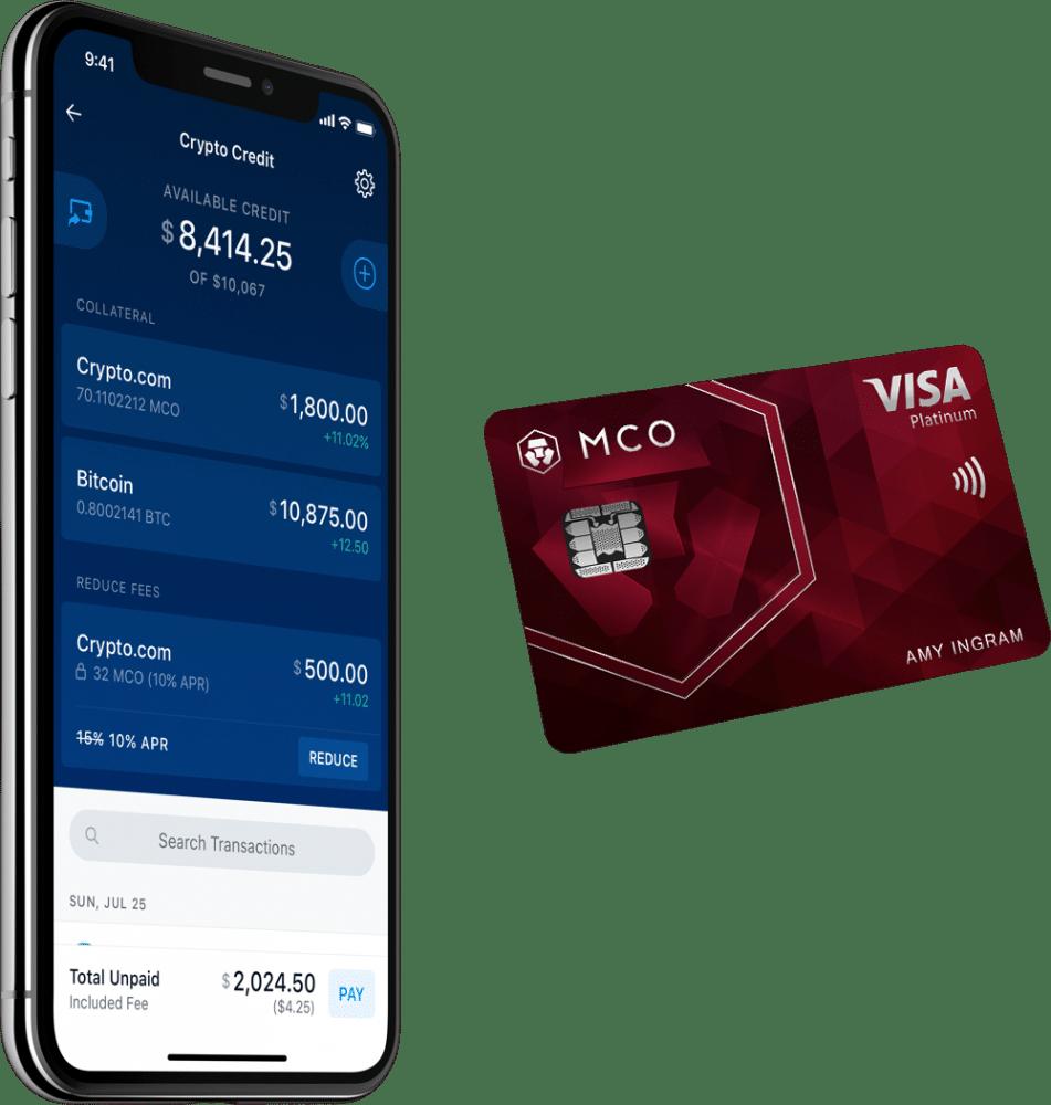 Une carte connectée à un portefeuille de crypto